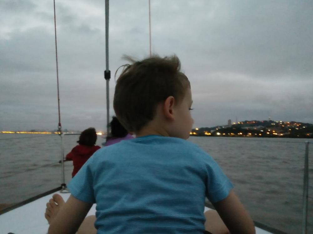 zicht op boot